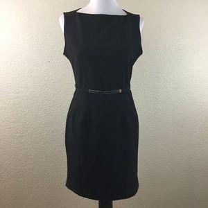 Papaya Black Fitted Dress